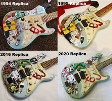 Made To Order Billie Joe Armstrong Blue Guitar Replica Any Year Christmas green