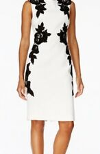 Clearance Sale!! NWT Tahari Ivory White / Black Dress Size 10 Msrp: $168