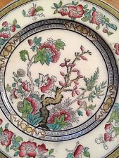 Antique Hand Painted Dresden P B & Co Indian Tree Dinner Plate 10.25'' Dia