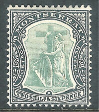 Montserrat 1904 green/black 2/6d multi-crown CA mint SG32