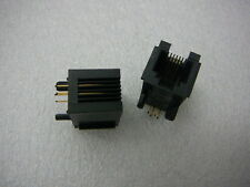 Jack Modular Connector 6p4c (RJ11, RJ14) 90° Angle (Right) Unshielded Cat3 Qty.2