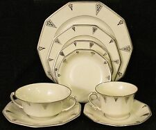 1930s DEAUVILLE ONE PLACE SETTING (8 pieces) by Community (Cream) China Art Deco