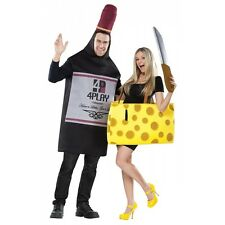 Wine and Cheese Costumes Adult Funny Couples Halloween Fancy Dress