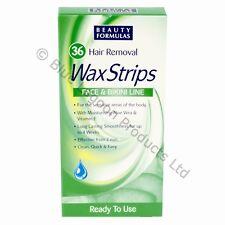 Aloe Vera Wax Strips Bikini Line Face Lip Safe Easy Women Mens Hair Removal