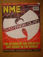 NME 2000 NOV 11 WU-TANG CLAN PUMPKINS EMBRACE RADIOHEAD