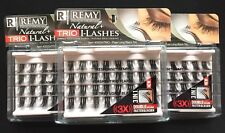NEW LOT OF 3 RESPONSE #54TRIO FLARE LONG BLACK TRIO INDIVIDUAL EYELASHES