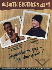 1997 Print Ad of Vater Percussion Drumsticks w Chad & Marvin The Smith Brothers