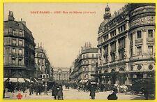 cpa PARIS Rue du HAVRE Grand MAGASINS du PRINTEMPS Animé Attelage Au Confortable