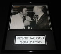 President Gerald Ford meets Reggie Jackson Framed 11x14 Photo Display