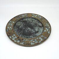 Hochwertiger Babcock Bronze Wandteller Teller ca. 19,5 cm ca. 1,2 Kg top Zustand