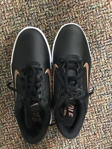 New Nike Ladies Golf Shoes - Black/Bronze - Size 6 1/2