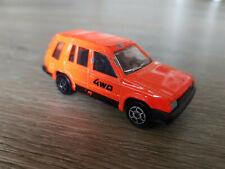 Majorette No. 273, Toyota 4WD, 1/55, made in France, neon organge-rot