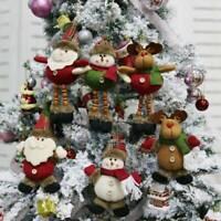 Christmas Tree Hanging Pendant Santa Elk Doll Ornament Xmas Party Home Decor