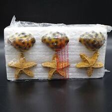 Seashell Shower Curtain Hooks Set of 12 42958 NIB Clam Shell Starfish