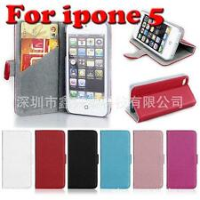APPLE Iphone 5 lip Over Synthetic PU leather support stand Case Protector
