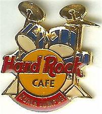 Hard Rock Cafe KUALA LUMPUR 1990s BLUE DRUM KIT w/Logo PIN DRUMS - HRC #4267