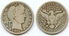 USA @ RARE QUARTER DOLLAR DES ETATS UNIS ARGENT DE 1915 @ RARE @ QUALITE A VOIR