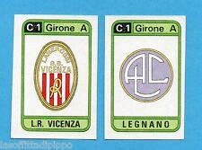 PANINI CALCIATORI 1983/84 -Figurina n.386- L.R.VICENZA+LEGNANO - SCUDETTO -Rec
