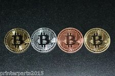 Bitcoin 4pcs Coins (Collectible) Gold-Silver-Copper-Bronze. US Fast Shipping.