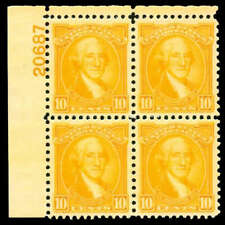 momen: US Stamps #715 Mint OG NH Plate block of 6 GEM