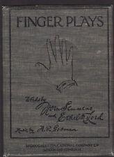 FINGER PLAYS FOR KINDERGARTEN & HOME -SEMMENS & LORD music aj