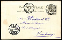 FRANCE TUNISIA TO GERMANY Postal Stationery 1893 VF