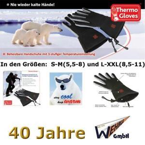 Thermo Gloves mit AKKUs beheizbare Handschuhe 2-5 Stunden Wärme