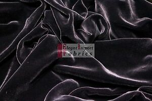 """SILK RAYON VELVET SOLID FABRIC 45""""W COSTUMES, APPAREL,UPHOLSTERY 43COLOR BY YARD"""