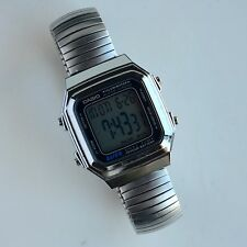"Casio A178W Digital Men's Watch New Bettery Fits 7.5"" Wrist"