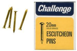 """3/4"""" (20mm) Solid Brass Escutcheon Pins, 30g Pack -  11436 Challenge"""