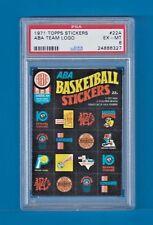 1971 Topps Trios Stickers #22 A ABA Team Logo Stickers PSA 6 EX-MT *NONE ON EBAY