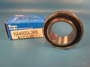 KOYO NA4905A.2RS Needle Roller Bearing, Removable Inner Ring, Oil Hole