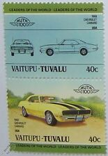 1968 CHEVROLET CAMARO Car Stamps (Leaders of the World / Auto 100)
