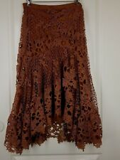 BRAND NEW REBA RETAIL $118 Sz 10 STUNNING Crocheted Skirt Color Autumn Meadows