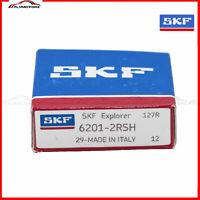 1 PCS SKF 6201-2RSH Rubber Seals Ball Bearing Made in Italy 2RS 12mmx32x10mm
