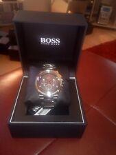 Genuine Hugo Boss 1513361 Men�€™s Supernova Gun Metal Edition Chronograph Watch