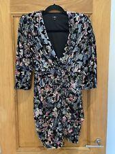 Gorgeous River Island Black Velvet Sequin Embellished Dress UK 8