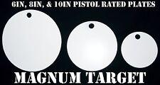 6in., 8in., and 10in. Steel Pistol Targets - 3pc. Steel Shooting Target Plates