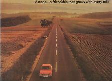 """"""" OPEL ASCONA """"  ORIGINAL 1972  SALES BROCHURE.16S-1900SR-VOYAGE"""