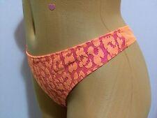 Victoria's Secret M/M  VERY SEXY  ANIMAL PRINT Lime Mesh Lace Thong Panties