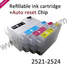 For WorkForce3620 3640 7110 7620 252XL1-252XL4 BK-XL refillable ink cartridges
