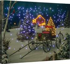 Midnight Singers Christmas Fiber Optic Canvas Wall Hanging w/Remote