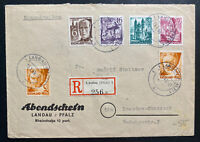 1949 Landau Germany Allied occupation Commercial Cover To Dresden Sc#6N16