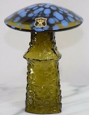 PSYCHEDELIC BO BORGSTROM ASEDA ART GLASS MAGIC MUSHROOM E&R GOLDEN CROWN GREEN !