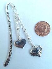 Mum Tibetan Bookmark with Glass Beads & Pretty Heart  Birthday - Present/Gift.