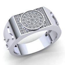 Hip Hop Engagement Ring 10K Gold Natural 0.33carat Round Cut Diamond Mens Modern