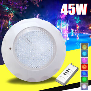12V 45W Swimming Pool RGB LED Light Spa Underwater Lamp + Remote Controller IP68