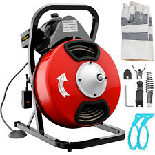 Vevor 50ftx12in Sewer Snake Drain Auger Cleaner Electric Drain Cleaning Machine