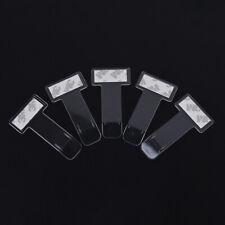 2X Autofenster Kunststoff Aufkleber Clip Parkscheinhalter Clips ZDXB bn