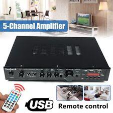 1200W HiFi bluetooth Stereo Amplifier 220V 5CH Home AV Surround Karaoke Speaker